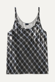Paco Rabanne Checked chainmail camisole