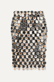 Paco Rabanne Paillette-embellished chainmail skirt