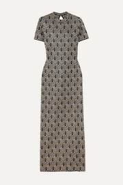 Paco Rabanne Metallic jacquard-knit maxi dress