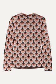 Paco Rabanne Metallic jacquard-knit top