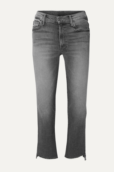 The Insider frayed cropped high-rise flared jeans