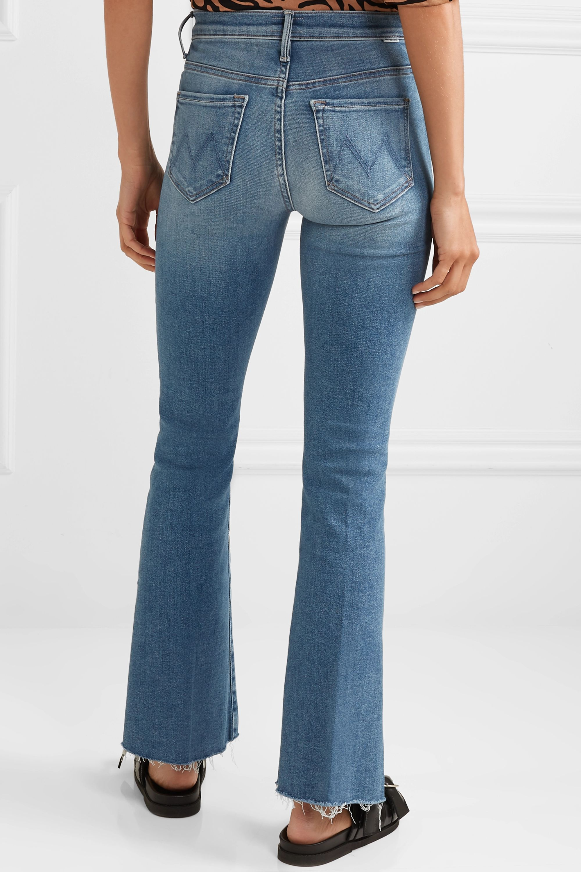 Mother The Weekender Fray high-rise flared jeans