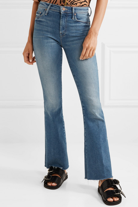 The Weekender Fray high-rise flared jeans