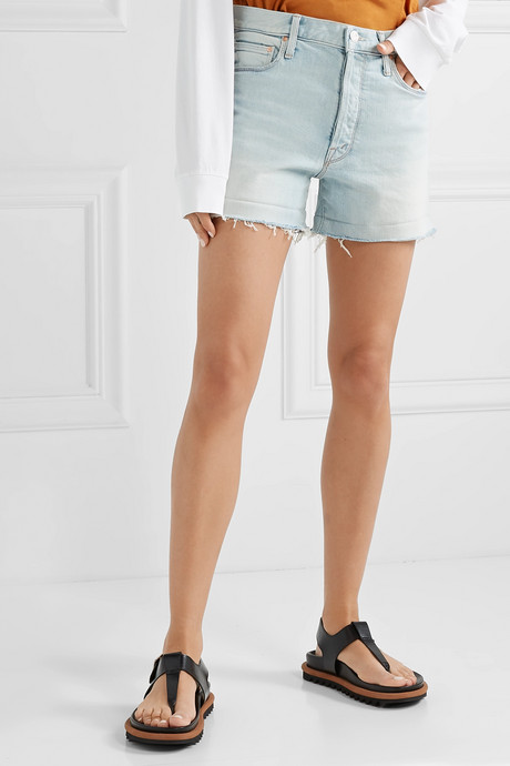 The Proper distressed denim shorts