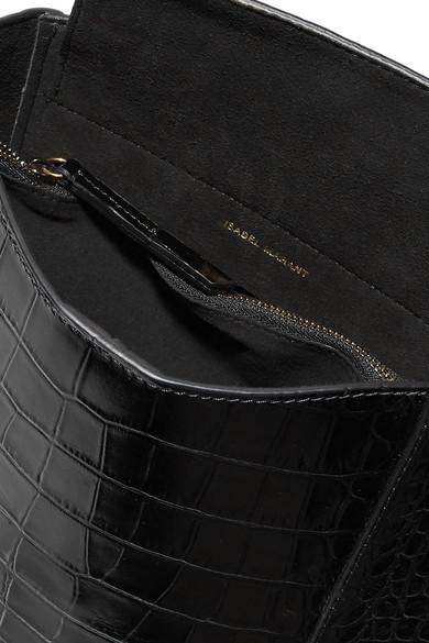 Oskan Studded Croc Effect Leather Shoulder Bag by Isabel Marant