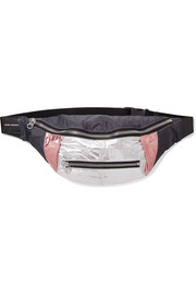 Isabel Marant Noomi leather-trimmed metallic shell belt bag