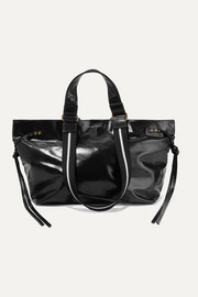 Isabel Marant Bagya canvas-trimmed glossed-leather tote