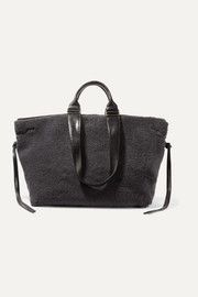 Isabel Marant Wardym leather-trimmed shearling tote