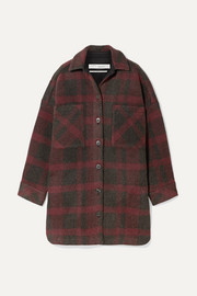 IRO Zunky oversized checked flannel jacket
