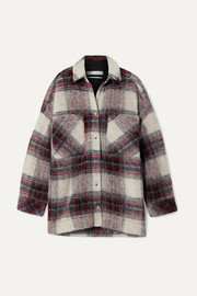 IRO Minksy oversized checked felt jacket