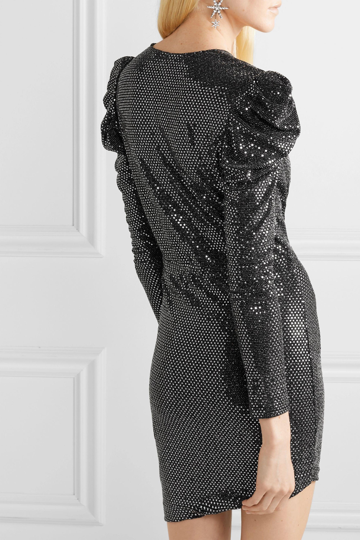 IRO Lou Lou ruched sequined stretch-jersey mini dress