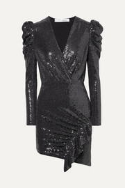 IRO Lou Lou ruched sequined stretch-jersey mini dress