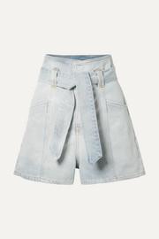 IRO Voukko belted denim shorts