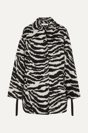 IRO Bera oversized zebra-print brushed-felt jacket