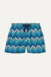 Printed shell swim shorts