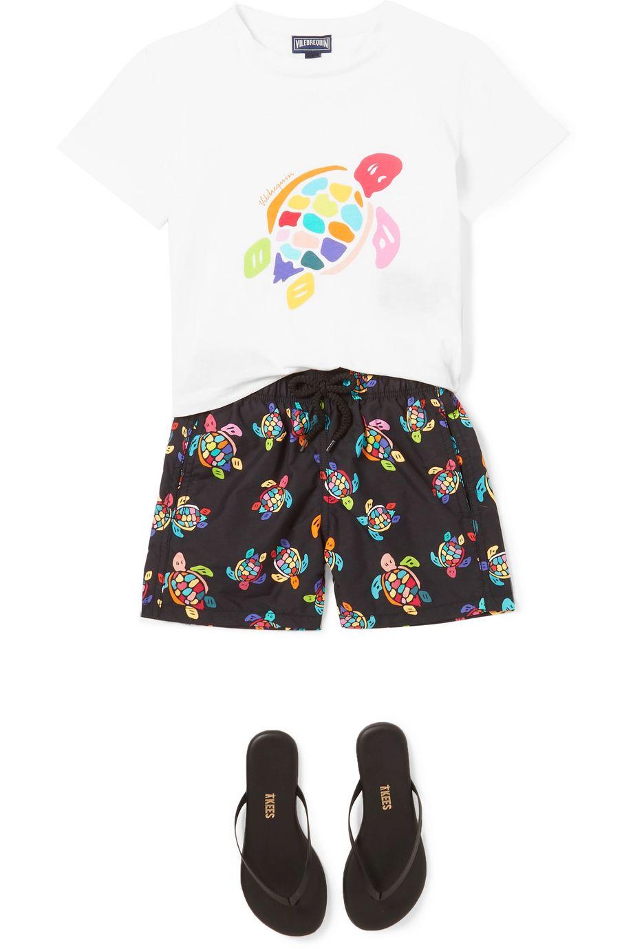 Vilebrequin Kids Printed cotton-jersey T-shirt