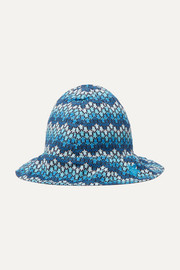 Bobine printed cotton-voile bucket hat