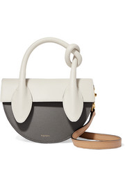 Yuzefi Dolores color-block textured-leather shoulder bag