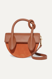 Dolores suede and textured-leather shoulder bag