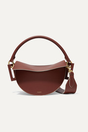 Dip textured-leather shoulder bag