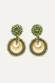 Mini Sundrop gold-plated, bead and silk earrings