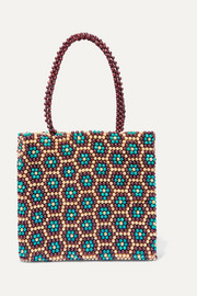 RIXO Betty beaded tote