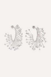 Silver-tone crystal earrings