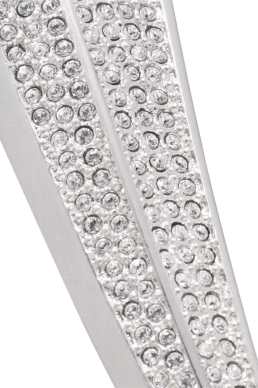 Mugler Silver-tone crystal earring