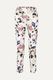 Erdem Sidney floral-print cotton-blend slim-leg pants