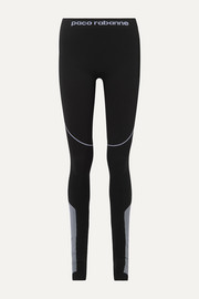 Paneled stretch-jersey stirrup leggings