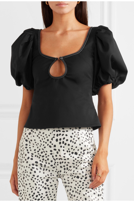 Georgia Alice Mia cutout stretch-poplin blouse