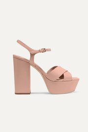 SAINT LAURENT Farrah leather platform sandals
