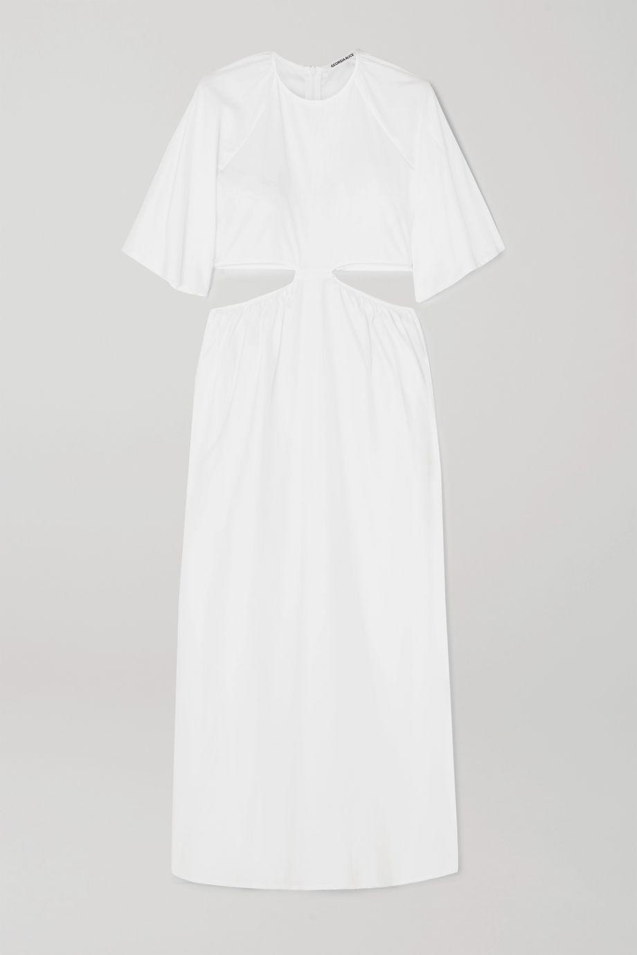 Georgia Alice Milan cutout cotton-poplin maxi dress