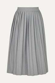 Georgia Alice Bobby pleated woven midi skirt