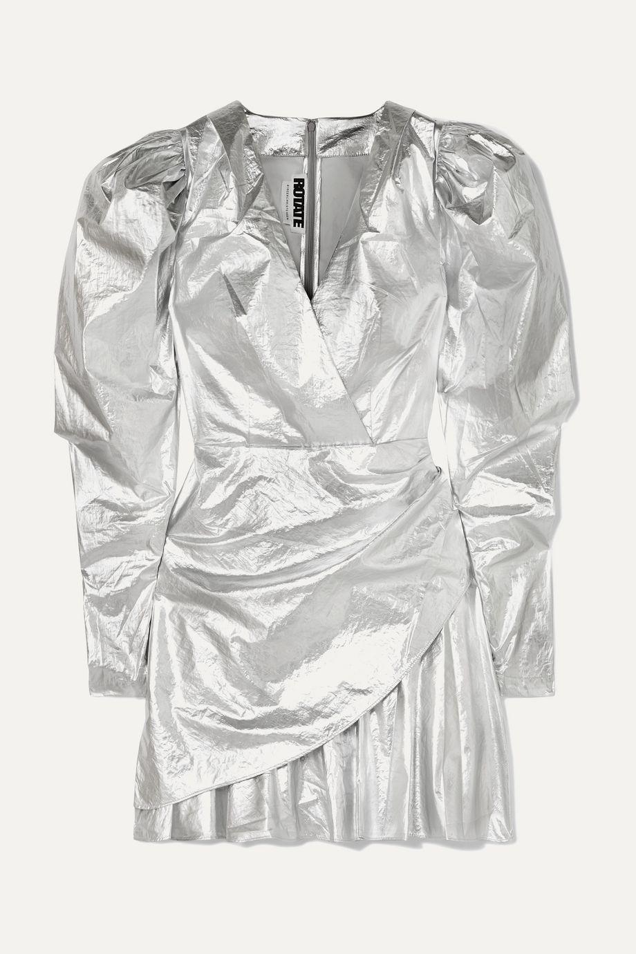 ROTATE Birger Christensen Lamé mini dress