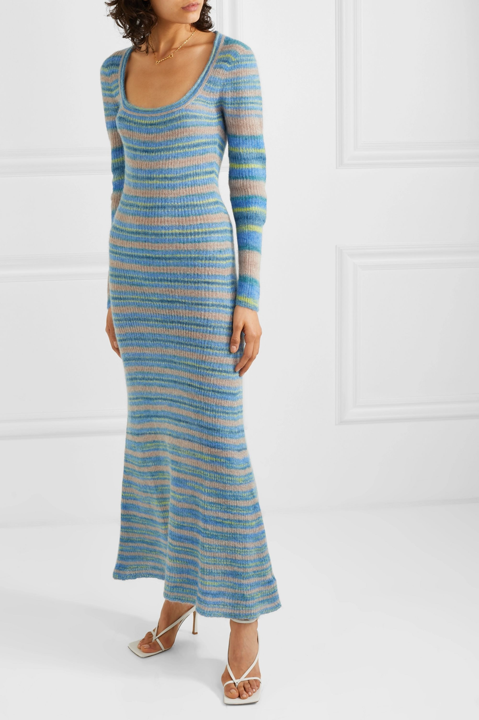 Jacquemus Perou striped knitted maxi dress