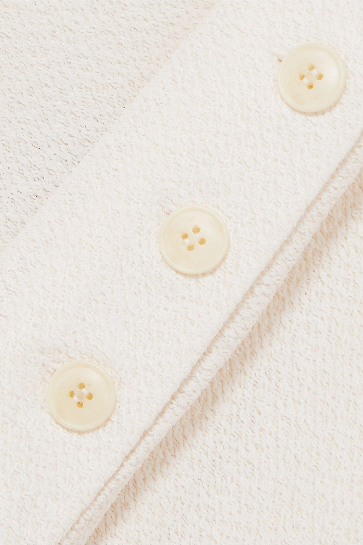 Jacquemus Tablier open-back textured-crepe halterneck dress