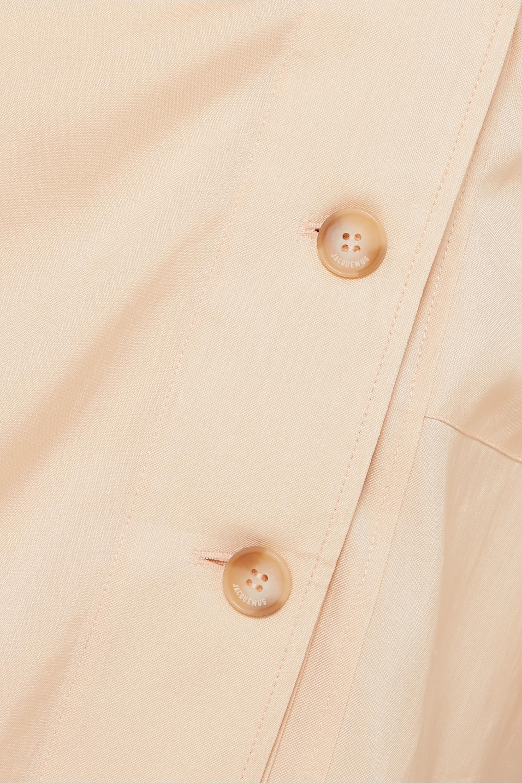 Jacquemus Seya belted crepe de chine dress