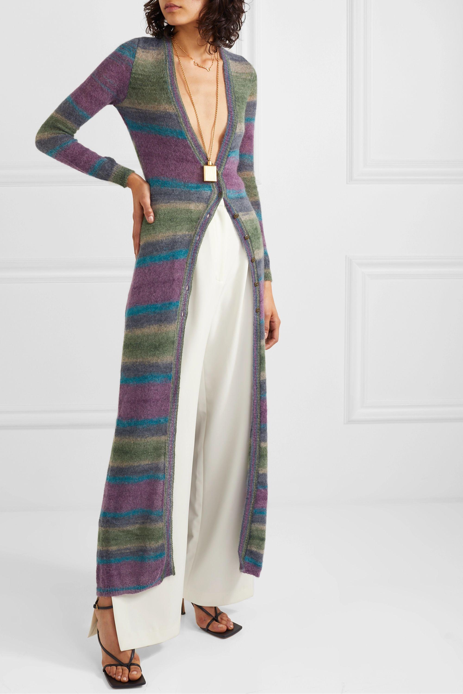 Jacquemus Striped mohair-blend cardigan