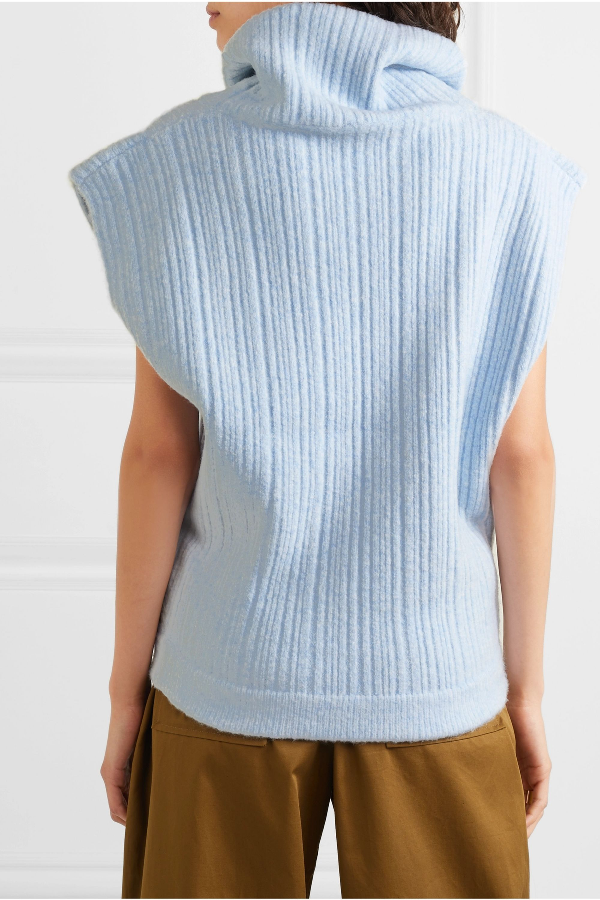 Jacquemus Cutout ribbed wool-blend top