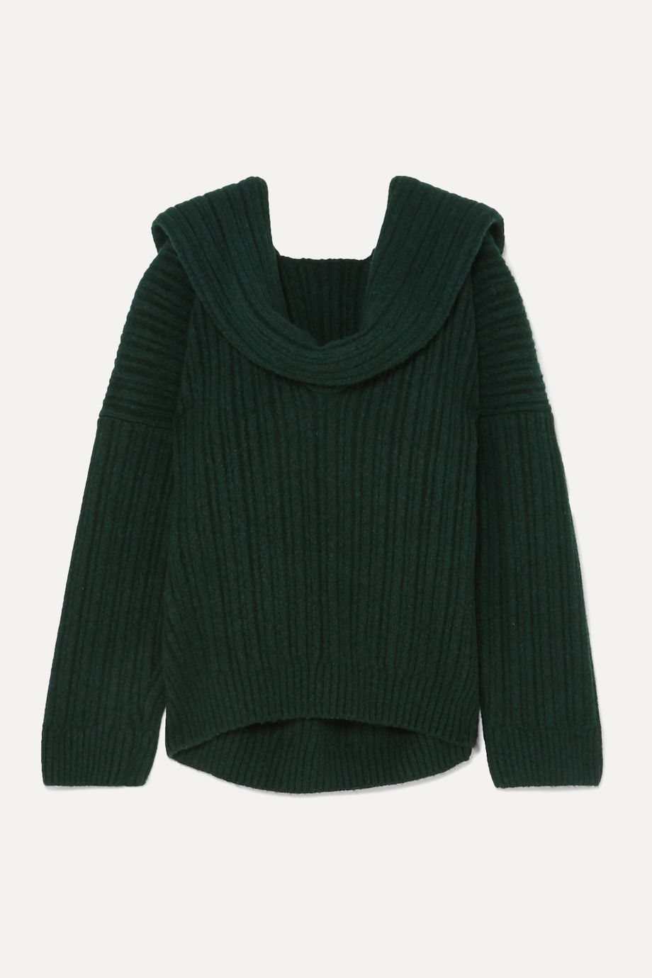 Jacquemus Ahwa draped ribbed wool-blend sweater