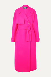 Jacquemus Sabe oversized neon wool trench coat