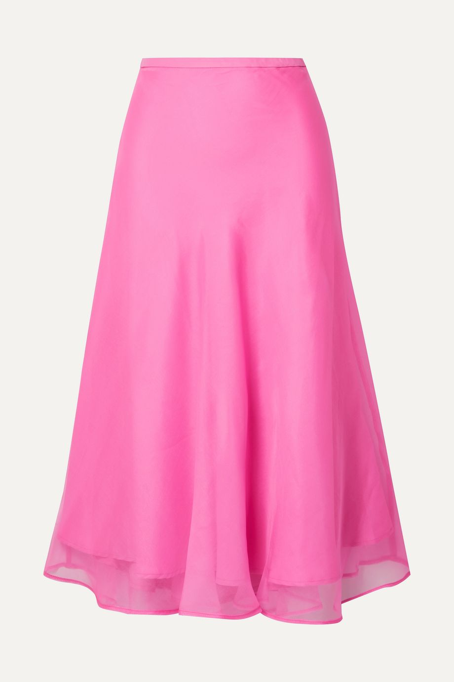 Maggie Marilyn + NET SUSTAIN Because We Can silk-organza midi skirt
