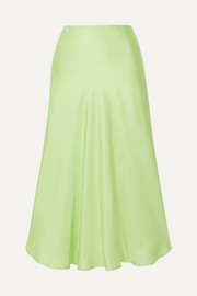 Maggie Marilyn + NET SUSTAIN Where I Want to Be silk-satin midi skirt