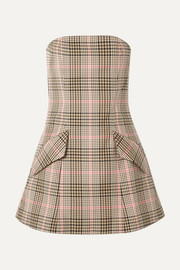 + NET SUSTAIN I Believe In You strapless checked woven mini dress
