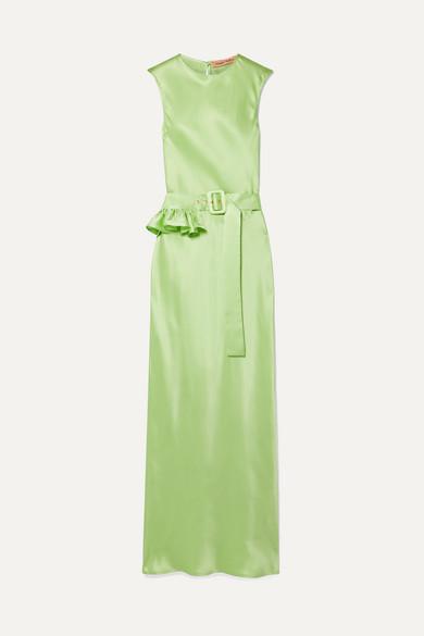 955105a4 Maggie Marilyn | + NET SUSTAIN Take a Bite belted ruffled silk maxi dress |  NET-A-PORTER.COM