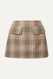 + NET SUSTAIN Short And Sweet checked woven mini skirt