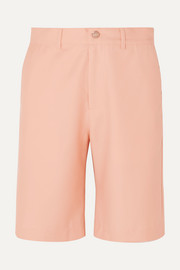 + NET SUSTAIN Feeling Peachy organic wool-twill shorts