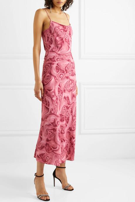 Kate printed crepe de chine maxi dress