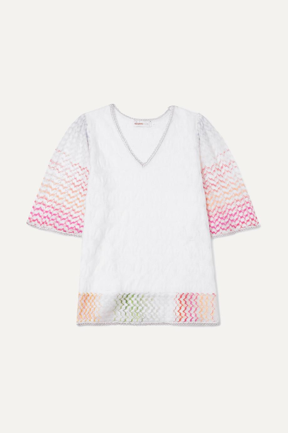 Missoni Kids Metallic crochet-knit kaftan